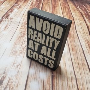 Home Decor Wood Wooden Sign Novelty Quote Funny